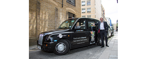 InSinkErator Broadens Marketing Activity with London Taxi Campaign